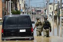 Záplavy v japonském Josu.