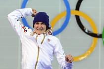Olympijská vítězka. Martina Sáblíková suverénně ovládla v Soči závod na 5000 metrů.