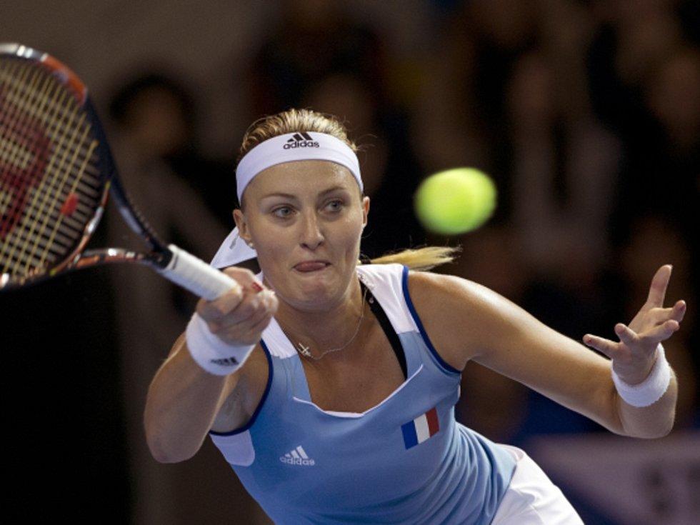 Kristina Mladenovicová z Francie proti Karolíně Plíškové.