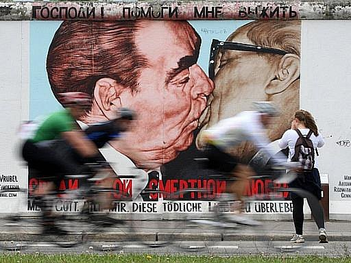 Zbytky Berlínské zdi v německé metropoli