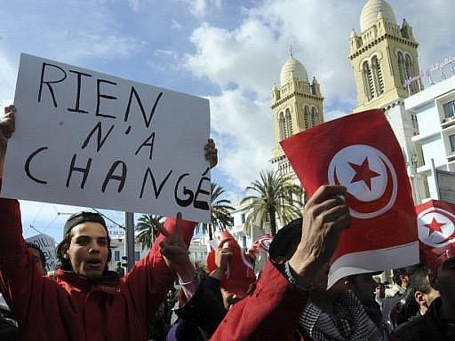 Nepokoje v Tunisu. Ilustrační foto