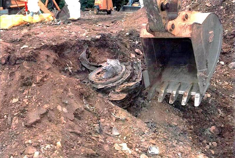 Jeden z motorů letadla Boeing 757-222, letu číslo 93 United Airlines. Tento stroj byl jedním ze čtyř unesených 11. září 2001. Cestující se vzepřeli únoscům, letadlo se zřítilo na pole v Pensylvánii.
