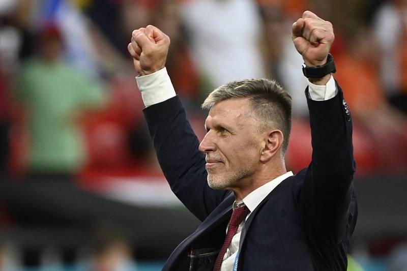 Trenér ČR Jaroslav Šilhavý po výhře.