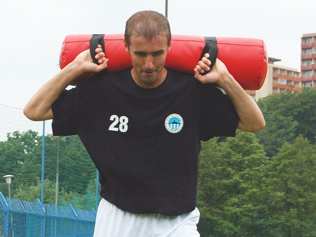 Miroslav Holeňák při tréninku.