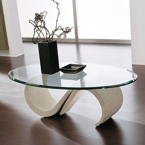 Umělý kámen a sklo, stolek Mara