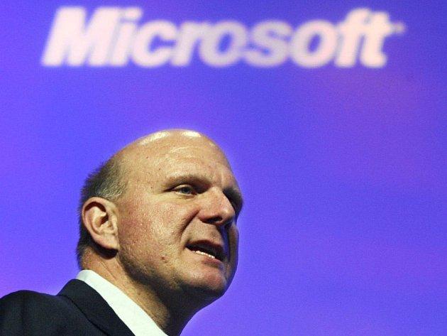 Generální ředitel amerického softwarového gigantu Steve Ballmer.