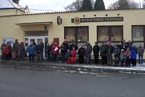 Novoroční pochod v Osvračíně.