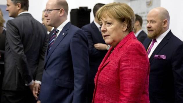 Německá kancléřka Angela Merkelová a Bohuslav Sobotka.
