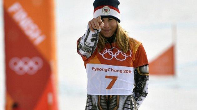 Ester Ledecká. Dvojnásobná zlatá medailistka.