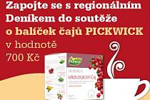 Zapojte se s regionálním Deníkem do soutěže o balíček čajů PICKWICK v hodnotě 800 korun