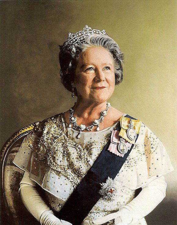 Portrét královny matky z roku 1886 od Richarda Stonea.