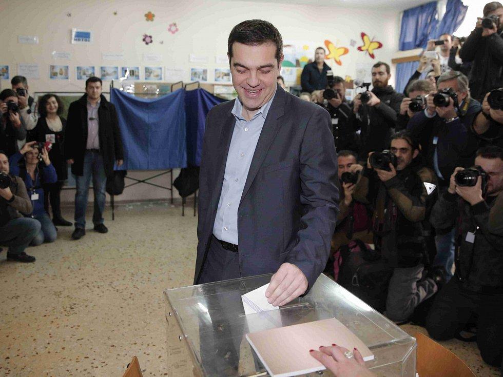 Alexis Tsipras  volební lídr strany SYRIZA.