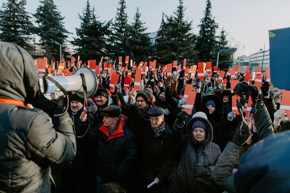 Akce na podporu Alexeje Navalného prezidentem v Moskvě