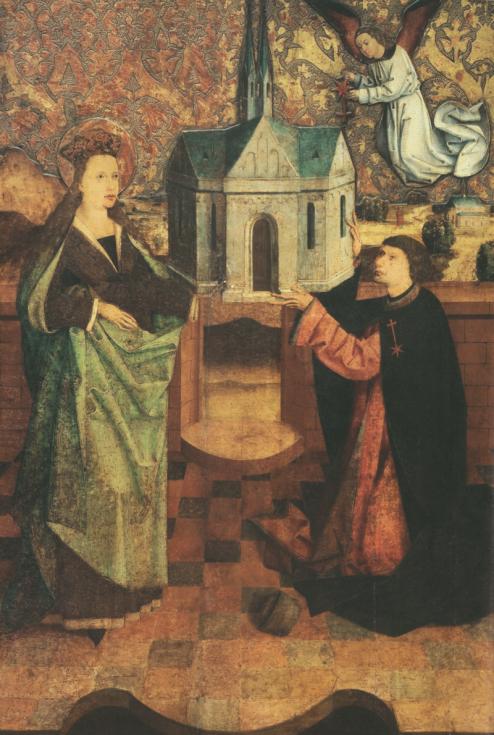 Svatá Anežka Česká na obrazu Princezna a řeholnice, který je majetkem pražského arcibiskupství