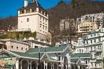 Karlovy Vary, pohled na kolonádu
