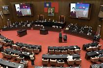 Miloš Vystrčil v tchajwanském parlamentu