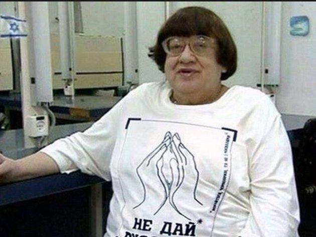 Bývalá sovětská disidentka a známá bojovnice za lidská práva Valerija Novodvorskaja.