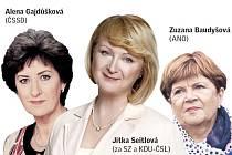 Alena Gajdůšková, Jitka Seitlová a Zuzana Baudyšová.