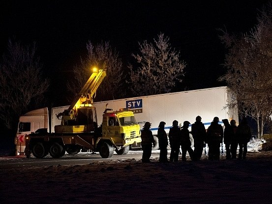 U Albrechtic na Frýdlantsku havaroval 11. března odpoledne kamion s vojenskou municí.