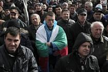 Demonstrace v Bulharsku. Ilustrační foto.