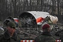 Trosky vládního Tupolevu, ve kterém zahynul bývalý polský prezident Lech Kaczynski