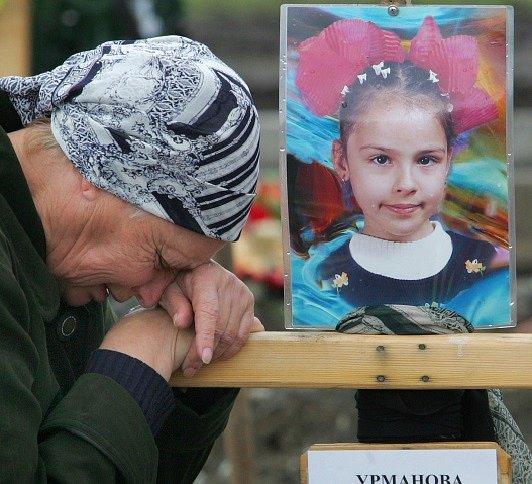 oplakávaná oběť masakru v Beslanu