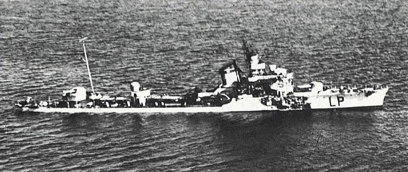 Jednou z lodí zničených a potopených v bitvě u Kerkenských ostrovů se stal italský torpédoborec Lampo