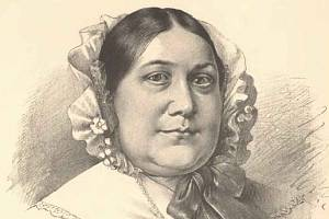 Magdalena Dobromila Rettigová na portrétu od Jana Vilímka