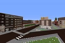 Mladí nadšenci staví kopii Ústí v prostředí počítačové hry Minecraft