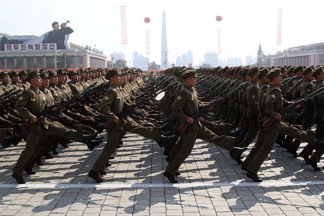 Severokorejská vojenská přehlídka, ilustrační foto