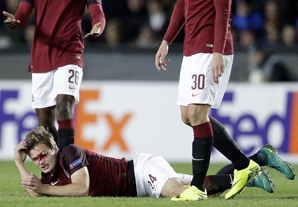 Zraněný Matěj Pulkrab.