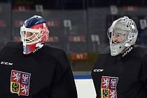 České brankářské opory v Pchjongčchangu: Dominik Furch (vlevo) a Pavel Francouz.