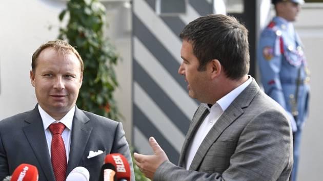 Miroslav Poche (vlevo) a Jan Hamáček.