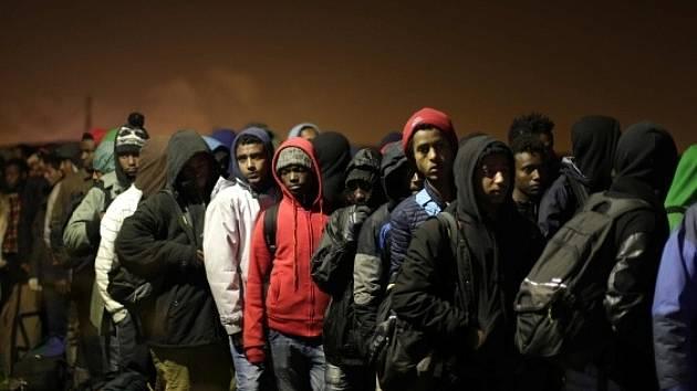 Přistěhovalecký tábor, ilustrační foto