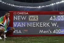 Van Niekerk oslnil na olympijské čtvrtce světovým rekordem