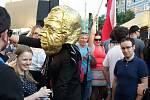 Demonstrace na Václavském náměstí, proti Andreji Babišovi a Miloši Zemanovi
