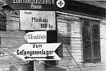 Německý rozcestník pro postupující vojska