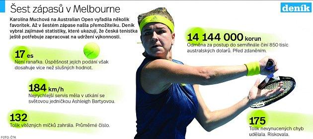 Karolína Muchová - Infografika