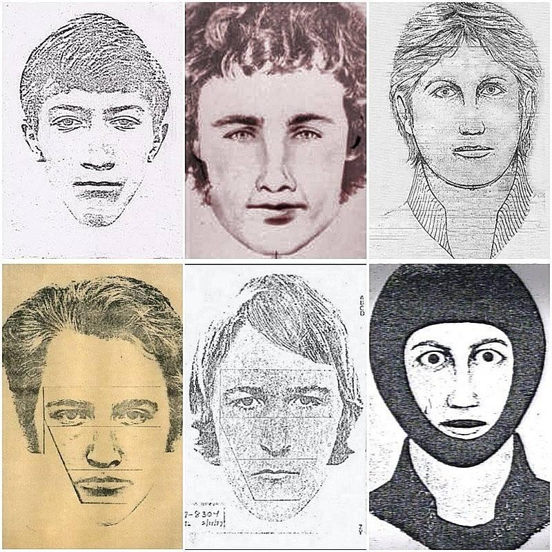 V průběhu let vzniklo množství identikitů pachatele znásilnění a vražd. Za všemi činy stál Joseph James DeAngelo.