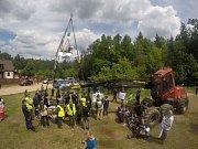 Proti kácení posledního zbytku původního evropského pralesa protestovaly stovky aktivistů