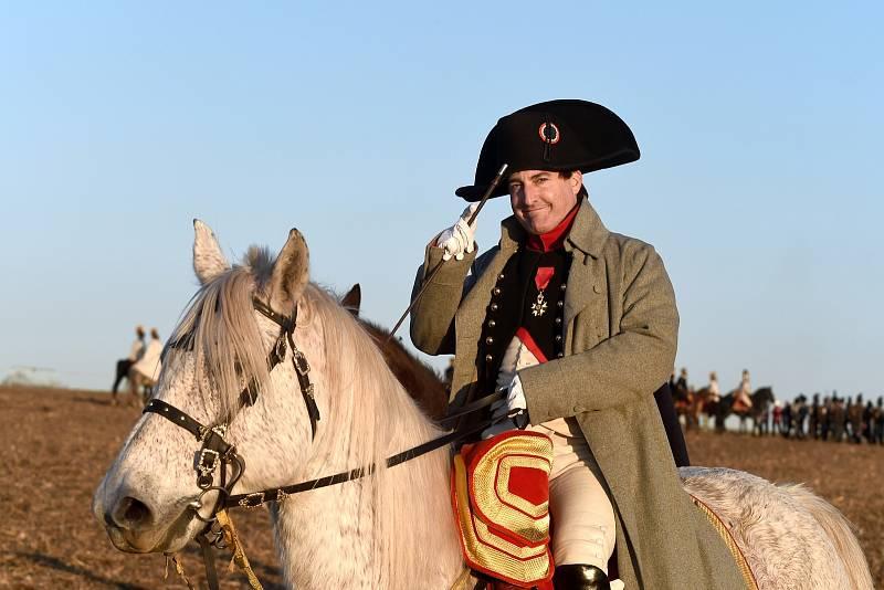 "Císař Napoleon Bonaparte nasvícený ranním ""Slavkovským sluncem"""
