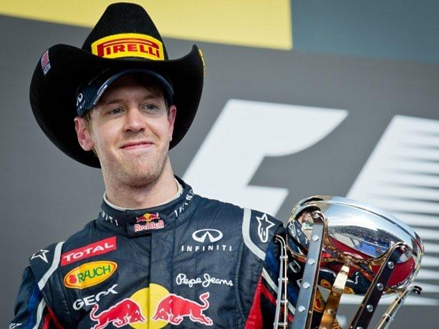 Sebastian Vettel skončil ve Velké ceně USA v Austinu druhý.