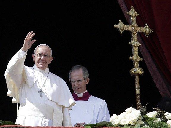Papež František při svém tradičním velikonočním poselství.