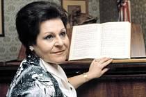 Sopranistka Naděžda Kniplová (na snímku z 12. dubna 1983), sólistka Národního divadla a Státní opery v Praze
