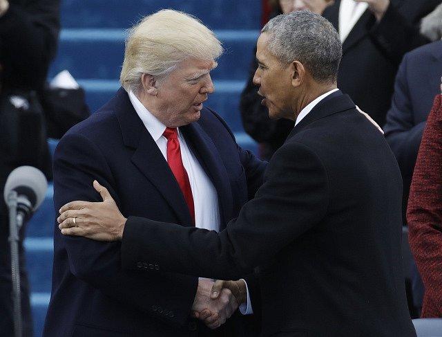 Donald Trump s Barackem Obamou.