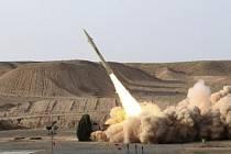 Test íránské rakety. Ilustrační foto.