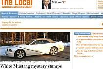 Článek o záhadném zmizení šestadvacetiletého Čecha na serveru The Local