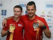 Pavel Maslák (vlevo) a Jakub Holuša se pochlubili medailemi z MS