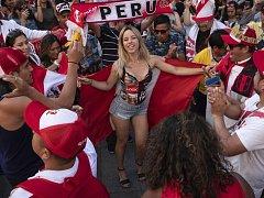 Peruánská fanynka. Fotbalové MS Rusko 2018