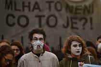 Demonstrace proti smogu v Ostravě
